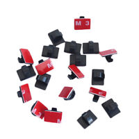 120PCS Self-Adhesive Wire Tie Cable Clamp Clips Holder For Car Dash Camera