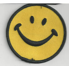 HAPPY FACE - SMILE - IRON ON PATCH