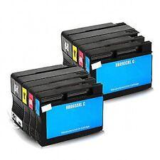 2 Full Sets 8 ink cartridges 932XL 933XL HP Officejet 6100 6600 6700 Printers