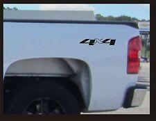 4x4 Truck Bed Decals, Black (Set) for Chevrolet Silverado