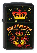ZIPPO Feuerzeug ELVIS KING OF ROCK N ROLL Elvis Presley Krone Sterne NEU OVP