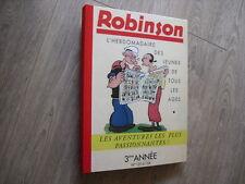 ROBINSON RELIURE AMATEUR 1938- 1939  N° 131 A 156 3e ANNEE SUPERBE COTE 600 EURO