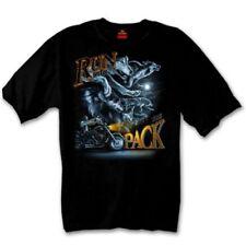 manga corta camiseta Run With The Paquete NEGRO TALLA XL MOTO