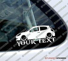 Personalizzato il tuo Nome/Testo, bassa RENAULT CLIO 197 RS (mk3) RENAULT SPORT ADESIVI