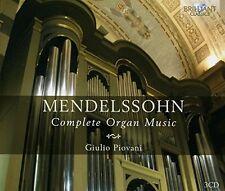 GIULIO PIOVANI - COMPLETE ORGAN MUSIC 3 CD NEU MENDELSSOHN BARTHOLDY,FELIX