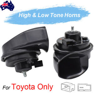 12V Loud High Low Tone Snail Horn For Toyota Corolla RAV4 Camry Hilux C-HR AU