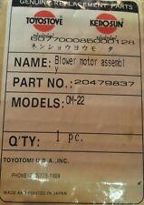 Toyostove OM-22 Blower Motor 20479837 New OEM Toyotomi
