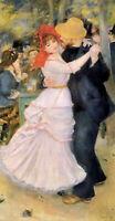 Oil Pierre Auguste Renoir - dance at bougival figures in summer garden landscape