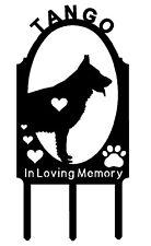 Personalized German Shepherd Dog Pet Memorial Grave Marker Sign Cemetery Metal