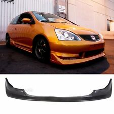 Fit For 03-05 Honda Civic Si 3 Door Hatchback Front Bumper Lip PU AW Style