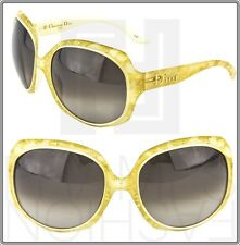 CHRISTIAN DIOR Glossy Gold Leaf 1G Oversized Ivory GLOSSY1 Gradient Sunglasses