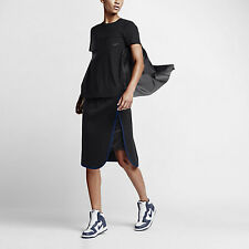 Women Nike Nikelab x Sacai Tech Fleece Skirt Sz XL Charcoal Blue New 802250-011