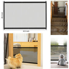 Baby Pet Gate Portable Folding Free Standing Home Kitchen Net Portable Indoor US