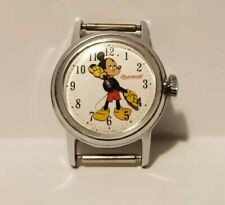 Vintage Ingersoll Mickey Mouse Women's Watch Mechanical wind-up, Tested Working!