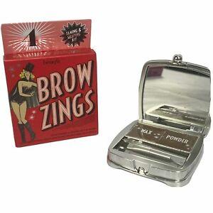 Benefit Brow Zings Eyebrow Tame Shape Fill Wax Powder Tweezer #4 Warm Deep Brown