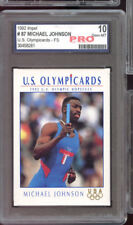 1992 Impel Olympicards #87 Michael Johnson ROOKIE Olympics Graded Card PRO 10