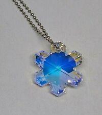 Swarovski Crystal Clear AB 30mm Snowflake 6704 Suncatcher/ Ornament/ Pendant