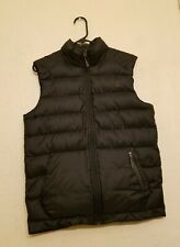 The North Face Vest Down Puffer 550 Jacket Black Full Zip Up Mens size Small