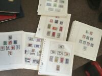 German Stamp sets on Linder leaves 30 leaves used and mint many have 2 sets