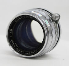 Canon 50mm F/1.8 Lens L39 LTM Leica Screw Mount Silver from Japan