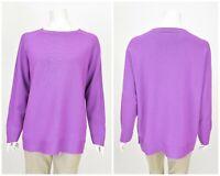 Womens Persona by Marina Rinaldi Wool Blend Sweater Jumper Purple Plus Size XL