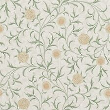 1 ROLL OF MORRIS & CO ARCHIVE SCROLL WALLPAPER 210365 COLOUR THYME/PEAR
