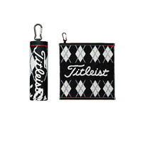 Titleist JAPAN Golf Hand Towel with hook Black AJTWH51 New