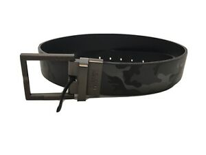 Kenneth Cole Reaction Mens Camouflage Belt Dark Gray Reversible AIF 36/90