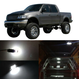 10x White LED Interior Bulbs Package License Plate Light for 1997-2003 Ford F150