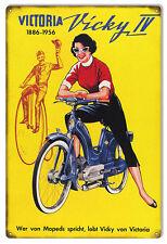 Nostalgic Vicky IV 1886-1956 Moped Bicycle Sign