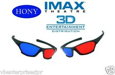 2 Pieces Hony 3D Glasses Red Blue Anaglyph for 3D Movie Game DVD Black Frame