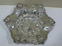 """Antique Vintage FABULOUS HIGH RELIEF STERLING SILVER 10"""" BOWL"""