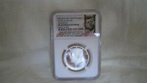 2014 S NGC SP 69 Enhanced Finish Silver Kennedy Half Dollar, High Relief Coin