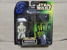 Star Wars POTF Green Card. Snowtrooper with E-Web Heavy Repeating Blaster Deluxe