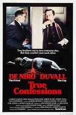 TRUE CONFESSIONS Movie POSTER 27x40 B Robert De Niro Robert Duvall Kenneth