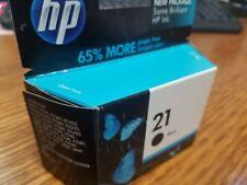 Genuine HP 21 Black Ink Cartridge C9351A. EXP Mar-2011
