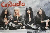 Cinderella JSA Signed Autograph Promo Poster Full Band Tom Kiefer