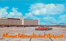 c1960 Miami International Airport (parking lot), Florida Postcard