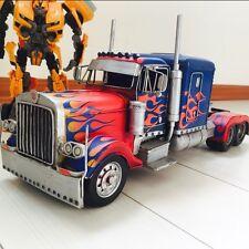 TRUCK Optimus Prime Transformers COIN MONEY PIGGY BANK tin tinplate handmade