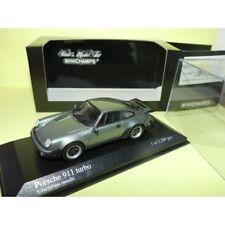 PORSCHE 911 TURBO 930 1977 Gris Bleu  Schieferblau MINICHAMPS 1:43