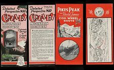 c. 1939 MAP Corley Mountain Highway & Pikes Peak Cog Road Colorado Springs
