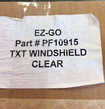 EZ-GO TXT Clear Windshield- Part #10915 ***FREE SHIPPING***