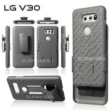 For LG V30, V35 ThinQ Holster Case Cover Rugged Belt Clip Stand Slim Light Black