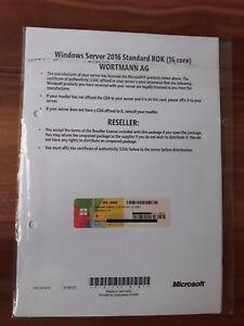 Microsoft Windows Server 2016 Standard 64bit 16 Core Terra / Wortmann AG ROK DVD