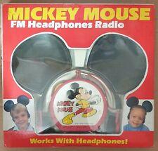 Mickey Mouse FM Headphones Radio Disney Vintage