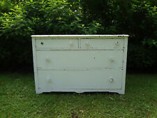 Vtg Antique Walnut Wood Chest Drawers Dresser Bureau Sideboard Buffet Cupboard