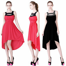 Polyester Mid-Calf Asymmetrical Hem Casual Dresses for Women