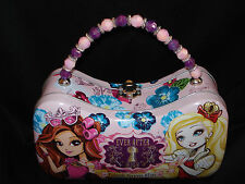 NWT NEW Ever After High Friends Forever Metal Purse Carrying Case Beaded Handle