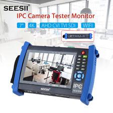 "4K 7"" CCTV Camera Monitor Tester AHD TVI CVI SDI Test IP Discovery 1920*1200 PoE"