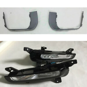 4X Left Right Front Fog Light White Lamp Grey Cover For Range Rover Evoque 16-17